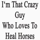 I'm That Crazy Guy Who Loves To Heal Horses  by supernova23