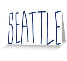 Seattle - City Scroll Greeting Card