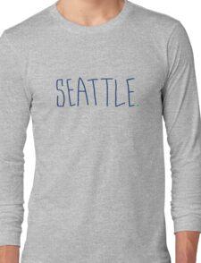 Seattle - City Scroll Long Sleeve T-Shirt
