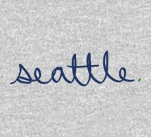 Seattle Cursive - City Scroll by KirkParrish