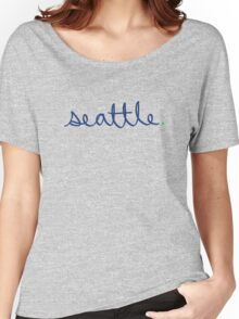 Seattle Cursive - City Scroll Women's Relaxed Fit T-Shirt