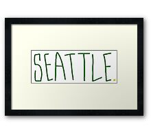Seattle Supe - City Scroll Framed Print