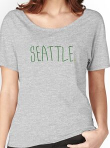 Seattle Supe - City Scroll Women's Relaxed Fit T-Shirt