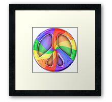 Rainbow Peace Framed Print