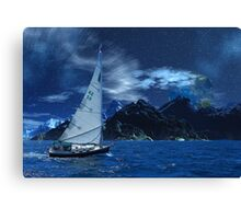Sailing the Sea of Tranquility Canvas Print
