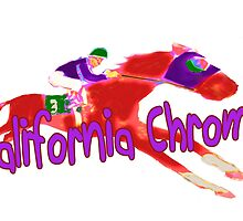 Fun California Chrome (Preakness) by Ginny Luttrell