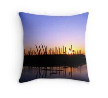 Wetlands Evening Throw Pillow
