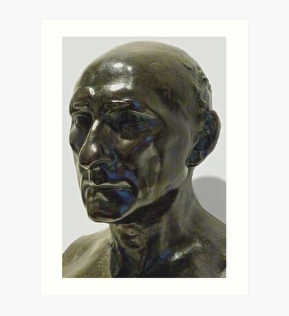 Study of Sculpture By Auguste Rodin, Bronze,  Sculptor's Patina Art Print