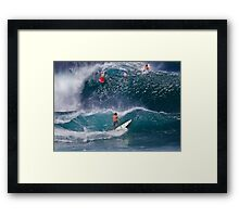 Surfer At Banzai Pipeline 2011.2 Framed Print