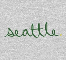 Seattle Supe Cursive - City Scroll by KirkParrish