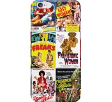 B Movie poster collage, Exploitation iPhone Case/Skin