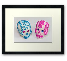 calaveritas mexicanas Framed Print