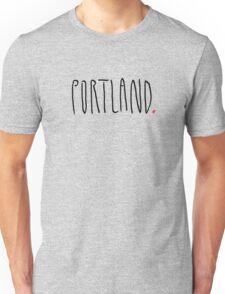 Portland - City Scroll Unisex T-Shirt