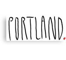 Portland - City Scroll Canvas Print