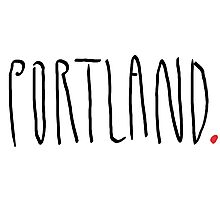 Portland - City Scroll Photographic Print