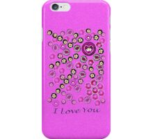 I Love You ~ Floating Flowers iPhone Case/Skin