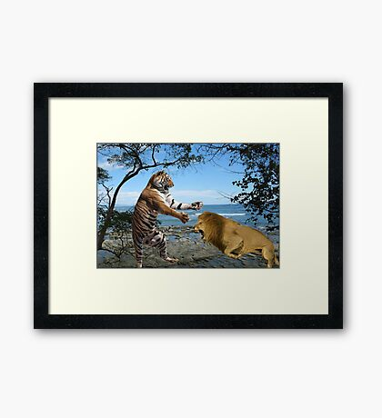 NA772-Clash of the Titans Framed Print