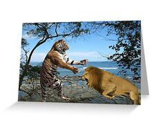 NA772-Clash of the Titans Greeting Card