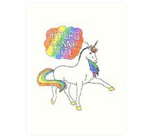 Haters gonna hate unicorn Art Print
