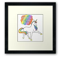 Haters gonna hate unicorn Framed Print