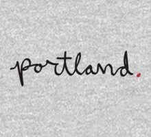 Portland Cursive - City Scroll by KirkParrish