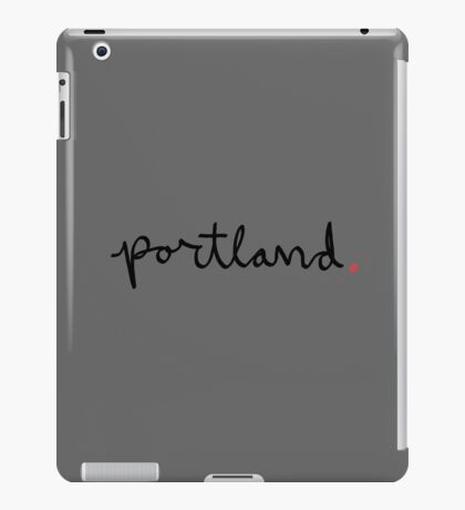 Portland Cursive - City Scroll iPad Case/Skin