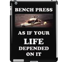Bench Press - dark shirts iPad Case/Skin