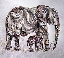 Mother Elephant  by Harsh  Malik