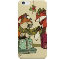 Foxes in Christmas Boxes iPhone Case/Skin