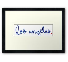Los Angeles Cursive - City Scroll Framed Print