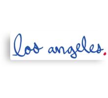 Los Angeles Cursive - City Scroll Canvas Print