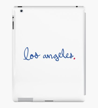 Los Angeles Cursive - City Scroll iPad Case/Skin