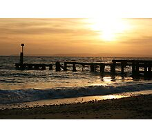 Tranquil winter sunset Photographic Print
