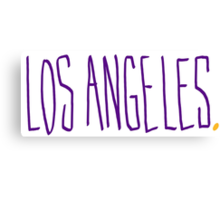 Los Angeles LAL - City Scroll Canvas Print