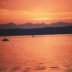 Sunset over Lake Tapps by blackcloud