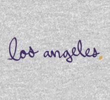 Los Angeles LAL Cursive - City Scroll by KirkParrish