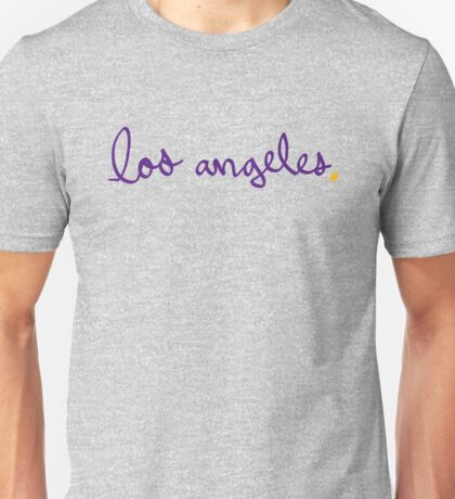 Los Angeles LAL Cursive - City Scroll Unisex T-Shirt