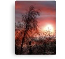 A New Sunrise A New Day Canvas Print