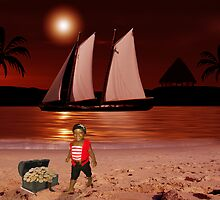 Baby Pirate of the Caribbean by Sandra Smith