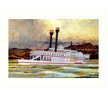 The Robert E Lee Paddle Wheeler 1866 - all products Art Print