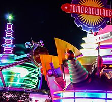tomorrowland at night. by Diana Kelly
