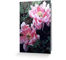 Peony Blooms Greeting Card