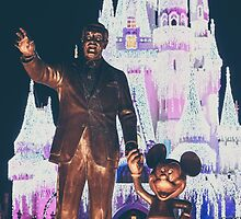 walt and mickey mouse statue. by Diana Kelly