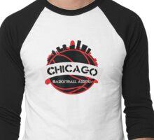Chicago Basketball Association Men's Baseball ¾ T-Shirt