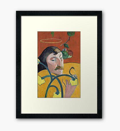 Self Portrait of Paul Gauguin Framed Print