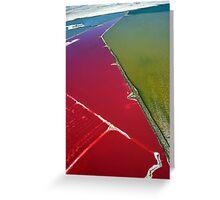 Red salt delta Greeting Card