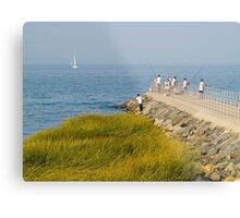 Fishing Jetty Metal Print