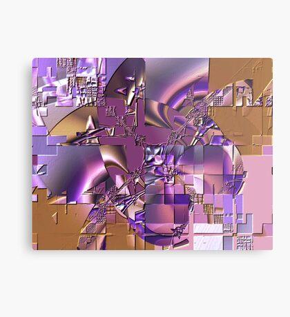 Fractal Bas-relief Metal Print