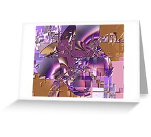 Fractal Bas-relief Greeting Card