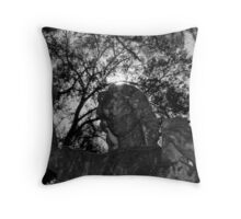 """""""Angel of the Cemetery"""" Throw Pillow"""